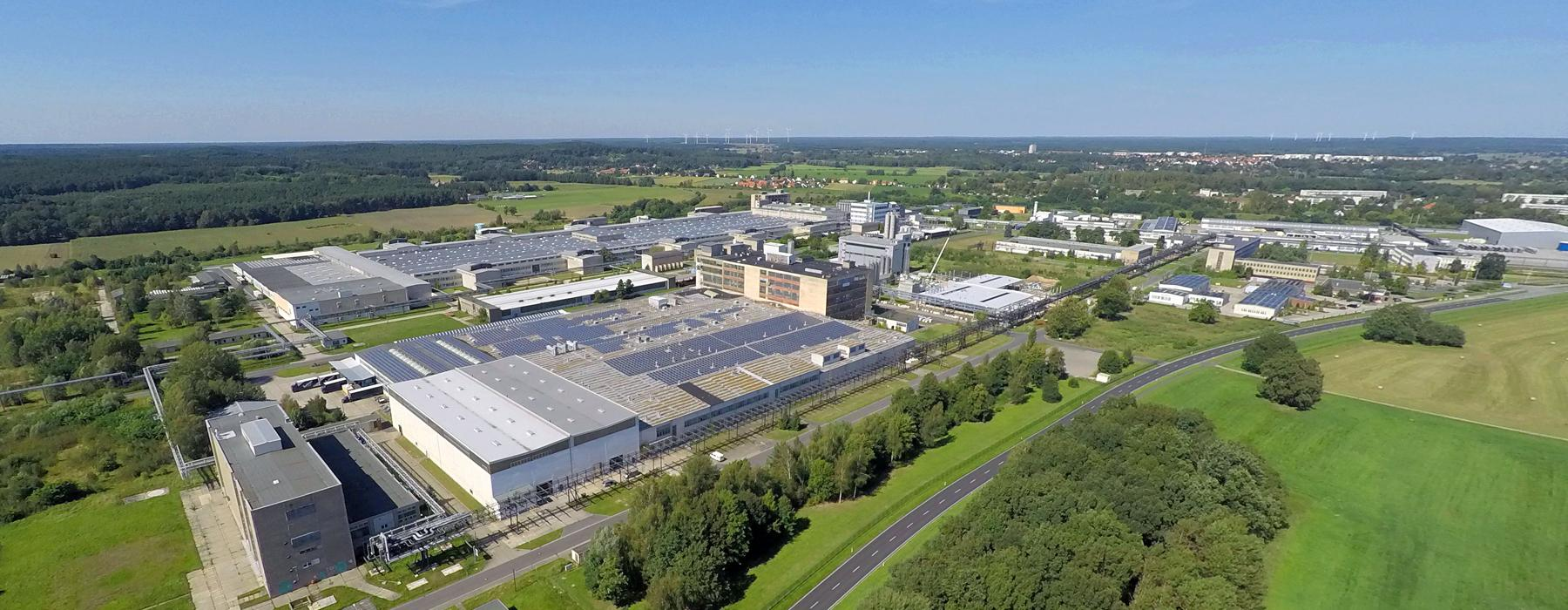 Aerial view of Guben industrial estate
