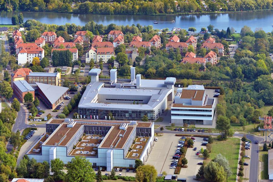 Aerial view of the Wildau Aerospace Technology Centre